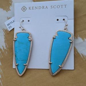 NWT Kendra Scott Skylar earrings in turquoise